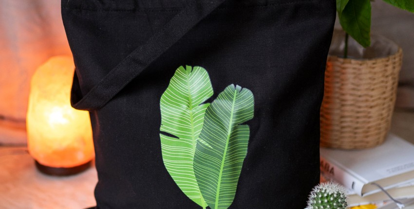 Сумка-шоппер на лето с тропическими листьями - отзыв покупателя