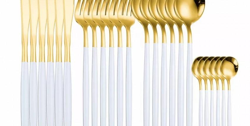 Набор столовых принадлежностей за 1600р с Алиэкспресс - отзыв покупателя