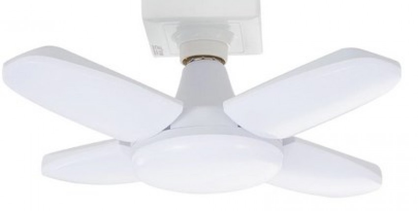 E27 Led Bulb Ceiling Fan Creative Led Lamp 85-265V Foldable Fan Blade. - User's review