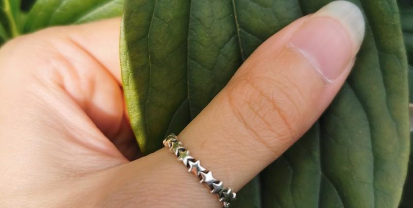 Серебряное кольцо со звездами - отзыв покупателя
