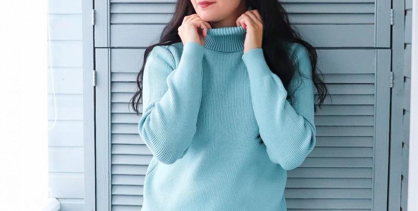 Теплый трикотажный свитер - отзыв покупателя