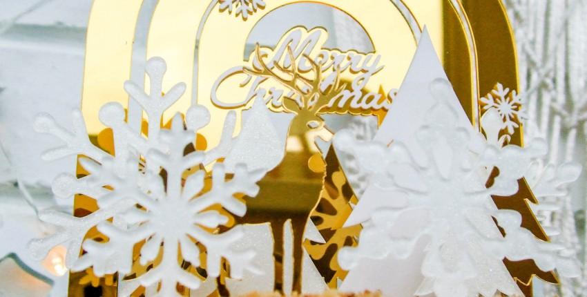 Украшаем новогодний торт при помощи топперов с Алиэкспресс - отзыв покупателя