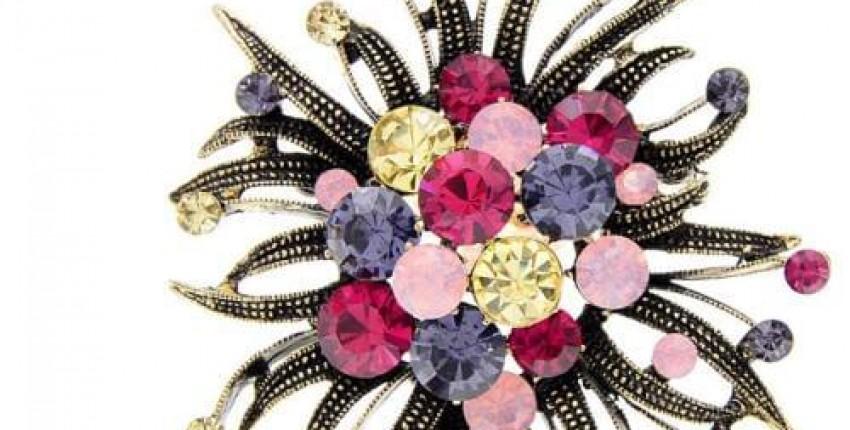 Женская Брошь с цветком CINDY XIANG - отзыв покупателя