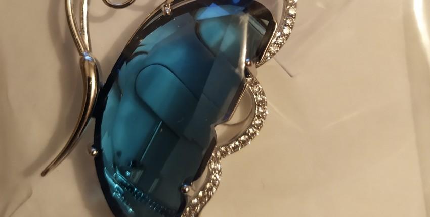 Женская Брошь бабочка CINDY XIANG, свадебная брошь из меди и фианита - отзыв покупателя