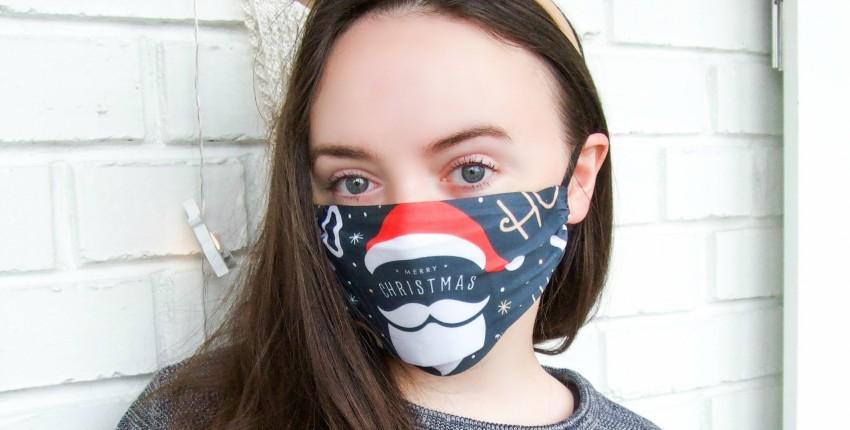 Новогодняя защитная маска с карманом для фильтра - отзыв покупателя
