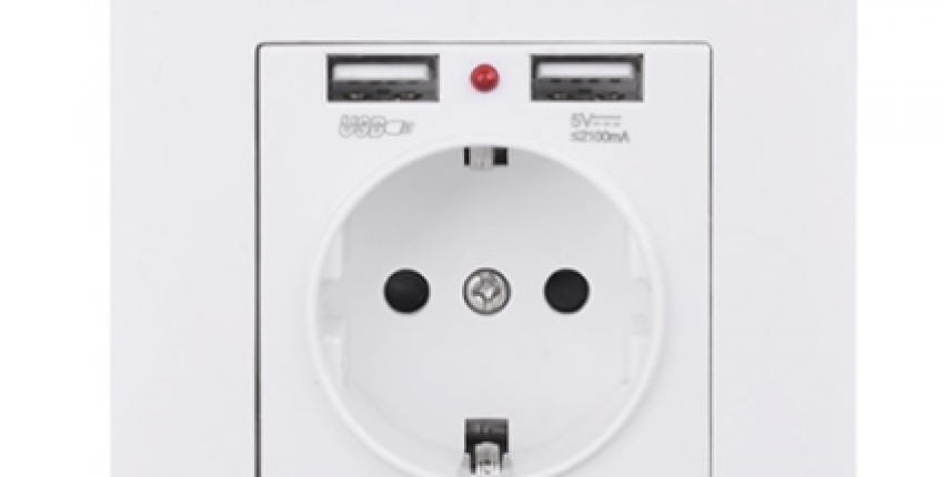 Dual USB Charging Port 5V 2.1A LED Indicator 16A Wall EU Power Socket Outlet - User's review
