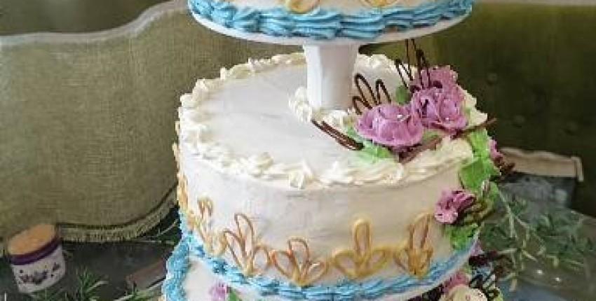 Алиэкспрес в помощь.  Торт на свадьбу сына из трех отдельных ярусов. - отзыв покупателя