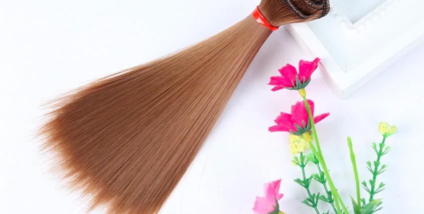 Волосы на трессах с Алиэкспресс - отзыв покупателя