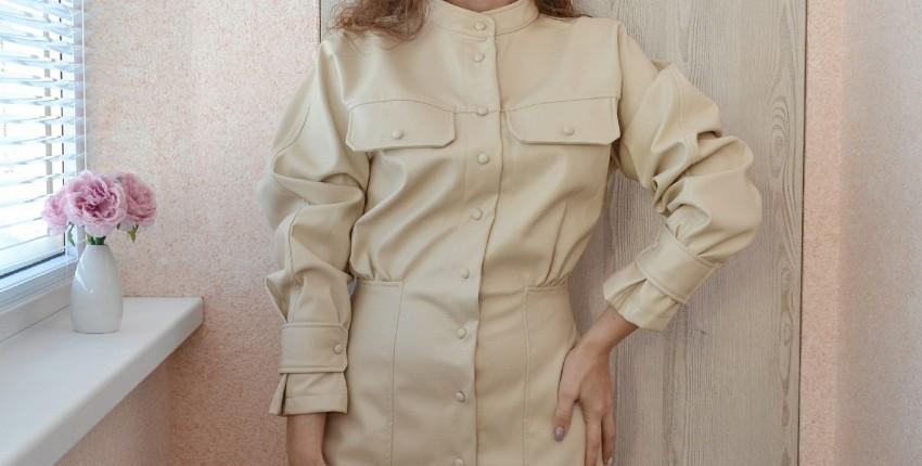 Эффектное платье из кожзама - отзыв покупателя