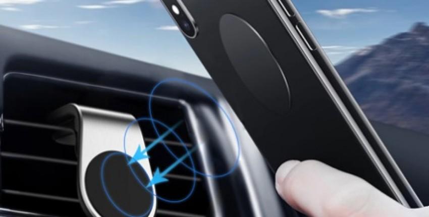 Автомобильный магнитный держатель телефона в воздуховод. Надежно крепится в дефлектор. - отзыв покупателя
