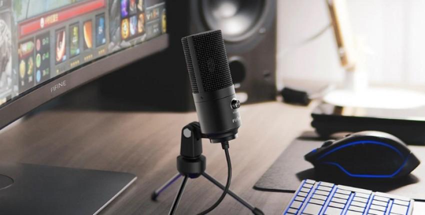 Конденсаторный настольный  микрофон Fifine, USB-микрофон для YouTube и прямых трансляций в Skype. - отзыв покупателя