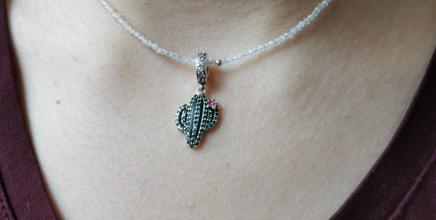 Серебряная подвеска или шарм с Кактусом - отзыв покупателя