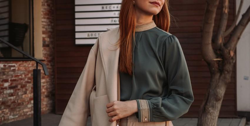 Шикарная блуза цвета зеленого моря - отзыв покупателя