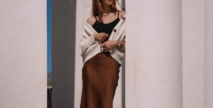 Сатиновая юбка в цвете молочного шоколада - отзыв покупателя