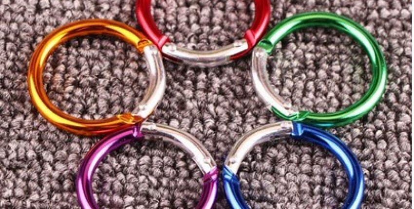 5Pcs Multicolor Aluminum Alloy Carabiner. - User's review