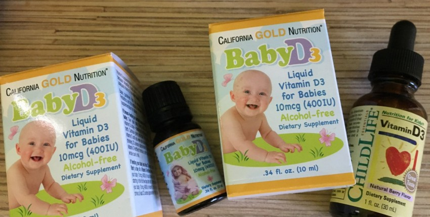 California Gold Nutrition, жидкий витамин D3 для детей