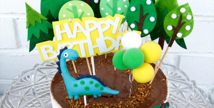 Декор для торта с динозаврами - отзыв покупателя