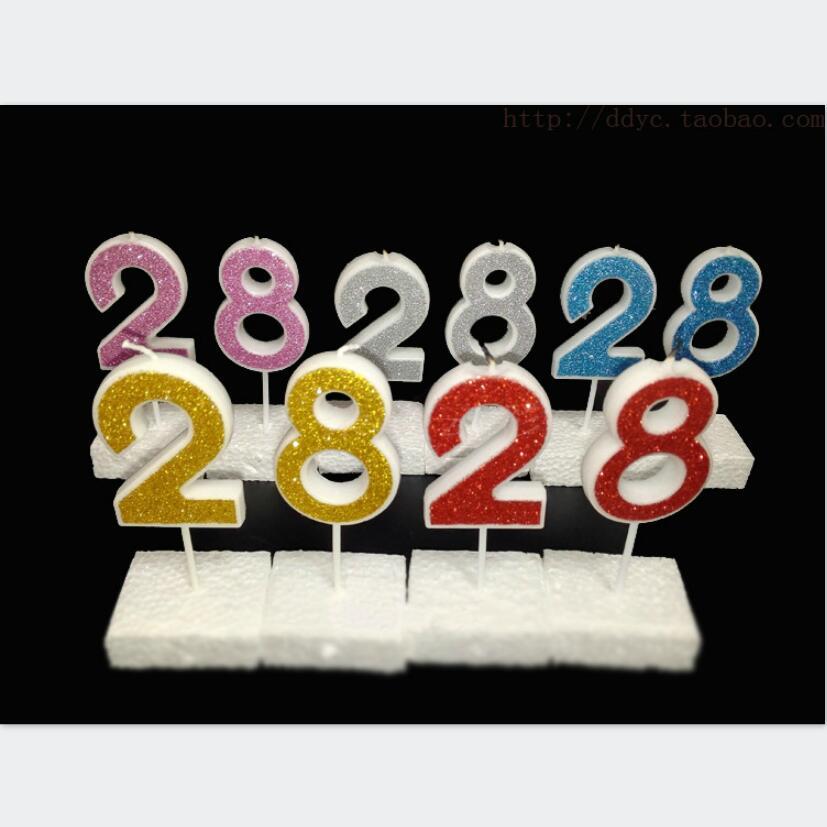Цифры-свечи для дня рождения.