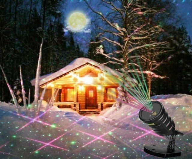 Suaoki лазерный  проектор,  с пультом дистанционного управления, для праздника, украшения сада