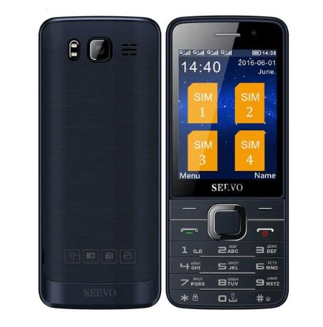 Телефон для бизнеса Servo v9500 русская клавиатура 4 SIM карты