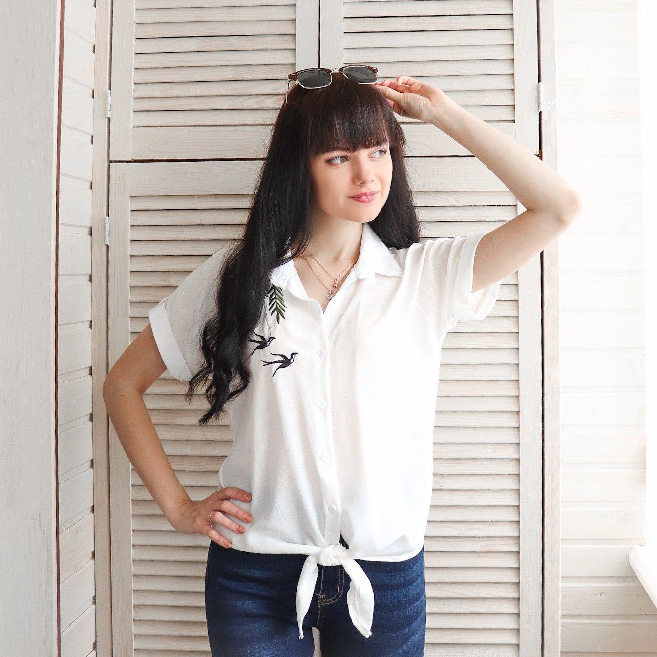 Легкая рубашка на лето
