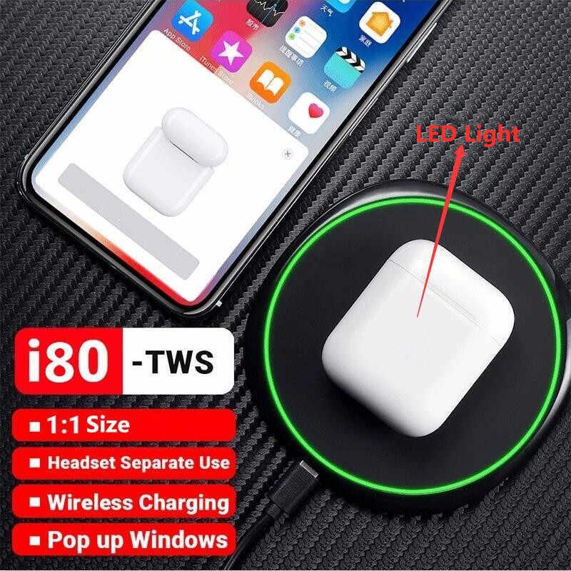 i80  TWS наушники-вкладыши  с Bluetooth 5.0 ЛУЧШЕ AirPODS-2  наушники W1 чип