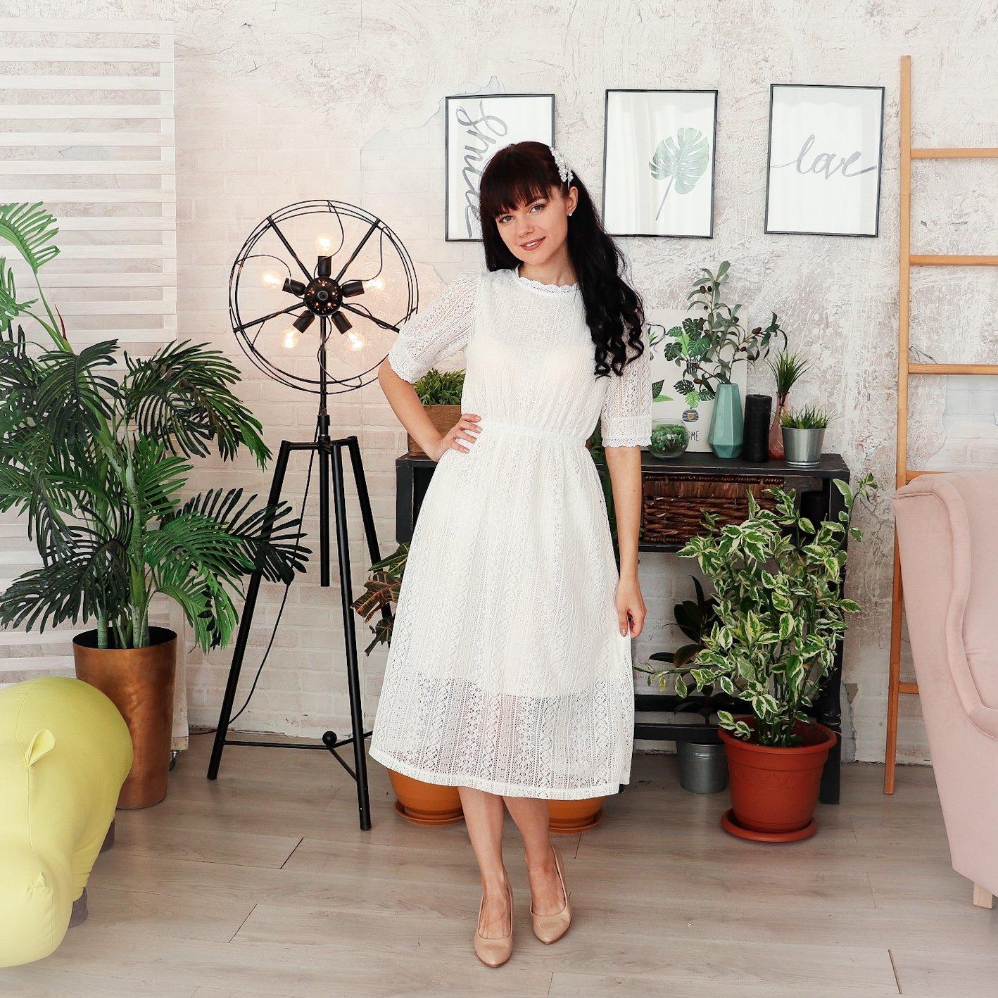 Милое кружевное платье Alyaboomty