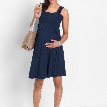 Трикотажное платье для беременных: красиво и удобно