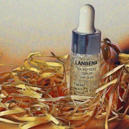 Сыворотка для лица Lanbena Six peptides serum 24K Gold - увлажнение, предотвращение морщин
