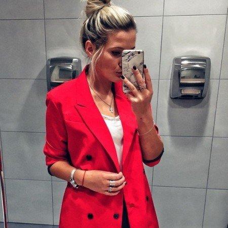 Шикарный красный пиджак с али