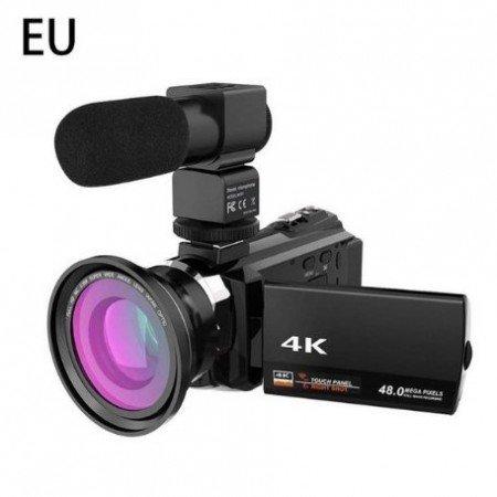 Цифровая HD видеокамера [4k WiFi Ultra 1080 P 48MP 16X ZOOM видеокамера микрофон  широкоугольный]
