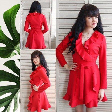 Красное платье INRGAN