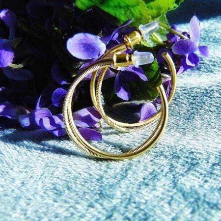 Красивые, лаконичные серьги-кольца. Серебро 925