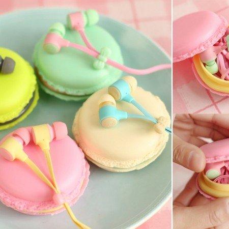 Les Macarons  красивые наушники в форме макарон