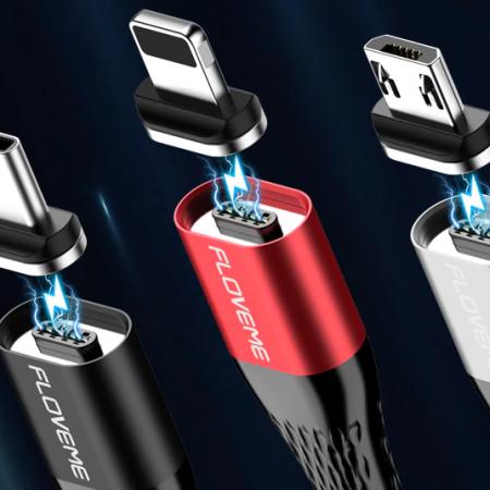 Дешевый магнитный кабель Floveme и компактный кабель в виде темляка