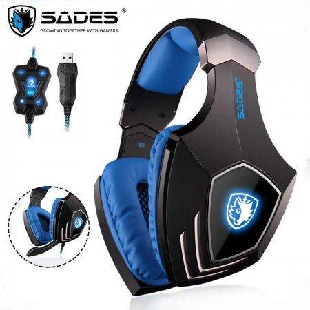 Профессиональные игровые наушники SADES Locust Plus