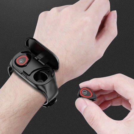 LEMFO M1 Смарт часы  Bluetooth наушники Два в одном! LEMFO T89 TWS Smart