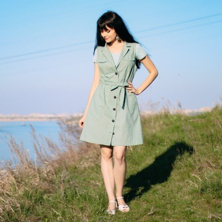 Платье в стиле сафари skitzyou
