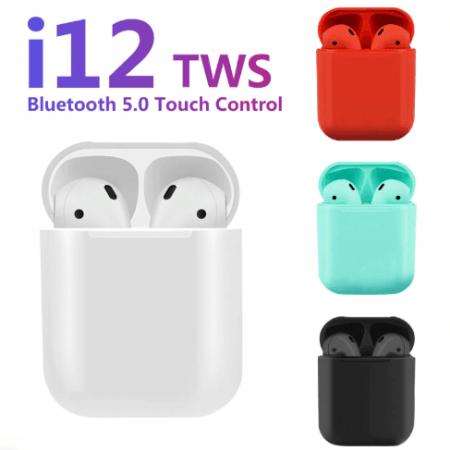 i12 TWS наушники с сенсорным управлением  1:1 AirPods Apple Bluetooth 5,0