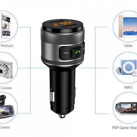 Vanjew C57 FM передатчик Быстрая зарядка 3,0 автомобильный Bluetooth 5.0