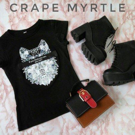 Женские полусапожки на тракторной подошве с платформой и толстым каблуком от бренда Crape myrtle.